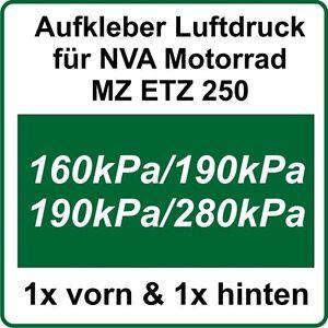 Details Zu Mz Etz Nva Aufkleber Reifenluftdruck Aufkleber Für Etz250