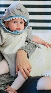 NWT/NEW POTTERY BARN KIDS BABY SHARK HALLOWEEN COSTUME 0-6 MONTHS ...