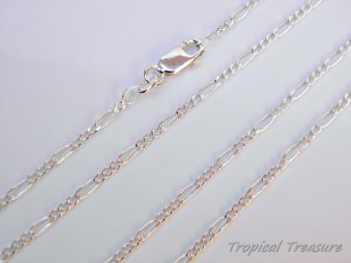 925 SOLID Silver option length 1.6mm FIGARO 3+1 Chain