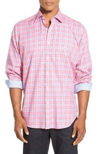 NWT-Bugatchi-Classic-Fit-Check-Sport-Shirt-NWT-S
