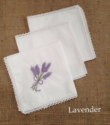 Mothers Day Gifts ~ Pack of 3 Beautiful 100/% Cotton Ladies Handkerchiefs