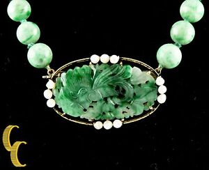 Imperial-Jade-Pearl-18k-Yellow-Gold-Bead-Necklace-w-Hand-Carved-Pendant-18-034