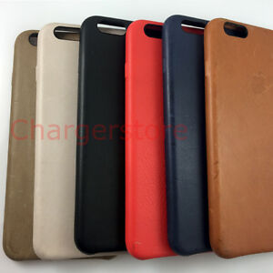 differently c2198 d85c2 Details about Original Apple Leather Case Protective cover for iPhone 6 6S  Plus BLACK/RED/BLUE
