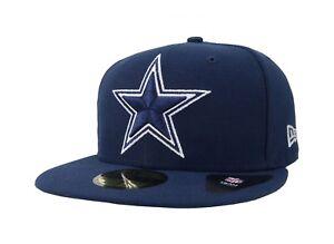 New-Era-59Fifty-Cap-Mens-NFL-Dallas-Cowboys-Superb-Navy-Blue-Fitted-5950-Hat