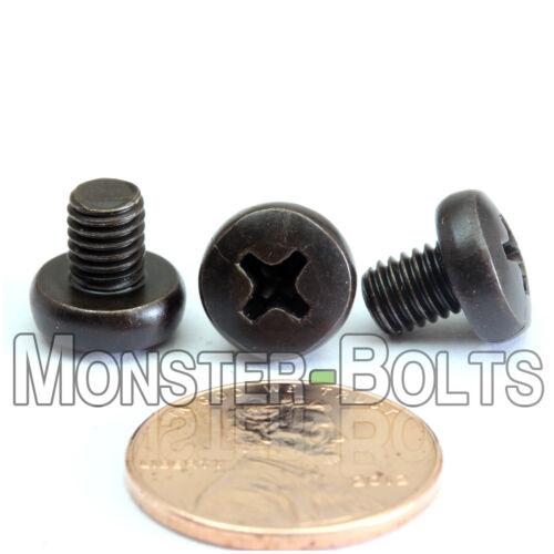M5 Phillips Pan Head Machine Screws Steel w Black Ox Cross Recessed DIN 7985 A