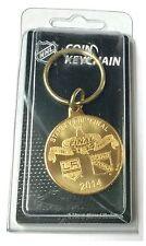 2014 Stanley Cup LA Kings vs New York Rangers NHL Bronze Coin Key Ring