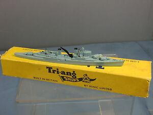 TRI-ANG-MINIC-NAVE-modello-No-M761-HMS-034-swiftsure-034-versione-blu-VN-Nuovo-di-zecca-con-scatola