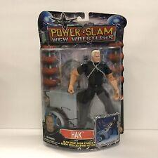 2000 MOC Power Slam WCW Wrestlers Hak Action Figure Soda Stand Toy Biz NBS13