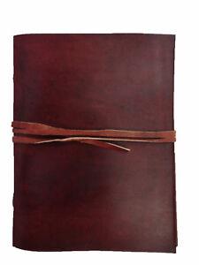 Vintage-Leder-Tagebuch-Zeitschrift-Blank-Notebook-Travel-gebunden-Sketchbook-schreiben