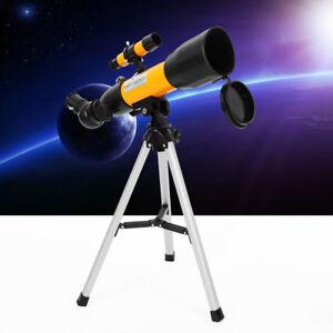 50mm-Astronomical-Refractor-Telescope-Refractive-Eyepieces-Tripod-Kids-Beginners