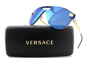 be47b1e3025d Image is loading NEW-Authentic-VERSACE-Glam-Medusa-Gold-Blue-Sunglasses-