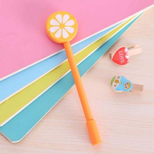 Cute Kawaii Fruit Decoration Ball Ballpoint Pens 0.38mm Ballpen School Supllies