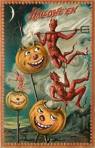 Raphael-Tuck-Halloween-Window-Decorations-Window-Decal-Door-Decal-Art-Prints