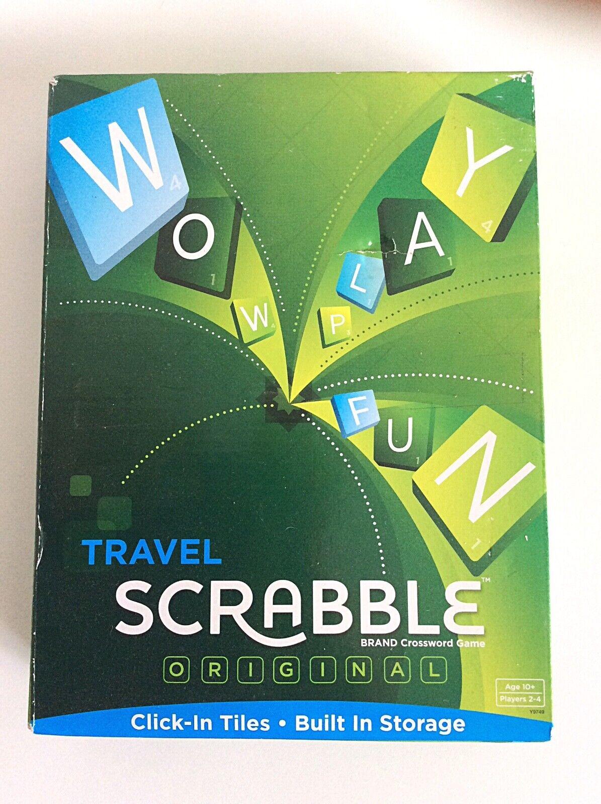 Nuevo Sellado Scrabble Viaje Juego-haga clic en azulejos, ver descripción