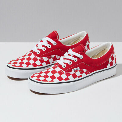 vans red checkered shoes - 52% OFF