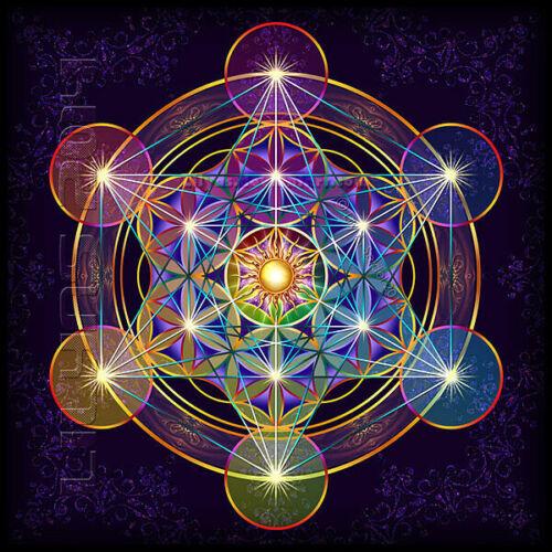 METATRON/'S CUBE EARRINGS large hoops Lucky 13 sacred flower of life geometry L6