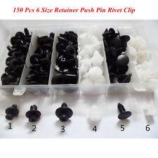 Car SUV Body Panel 150pcs 6 Size Repair Push Pin Fastener Clip Rivets Screws Kit