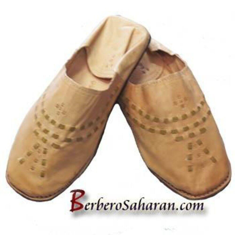 Zapatillas de cuero hecha a mano argelino marroquí BABOUCHE-para hombres
