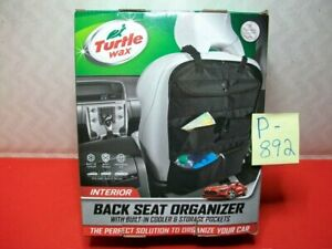 BRAND NEW TURTLE WAX BACK SEAT ORGANIZER W/ BUILT-IN COOLER & STORAGE POCKETS