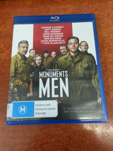 1 of 1 - The Monuments Men Clooney Blu Ray (23938)