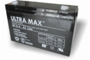 Détails 12ah 6 Voiture 6v Np12 Véritable Jouet Ultramax De Sur Batterie Électrique 3TKFJl1c