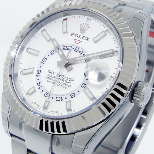Rolex Sky,Dweller 326934 42mm Stainless Steel White Gold Case Men\u0027s Watch