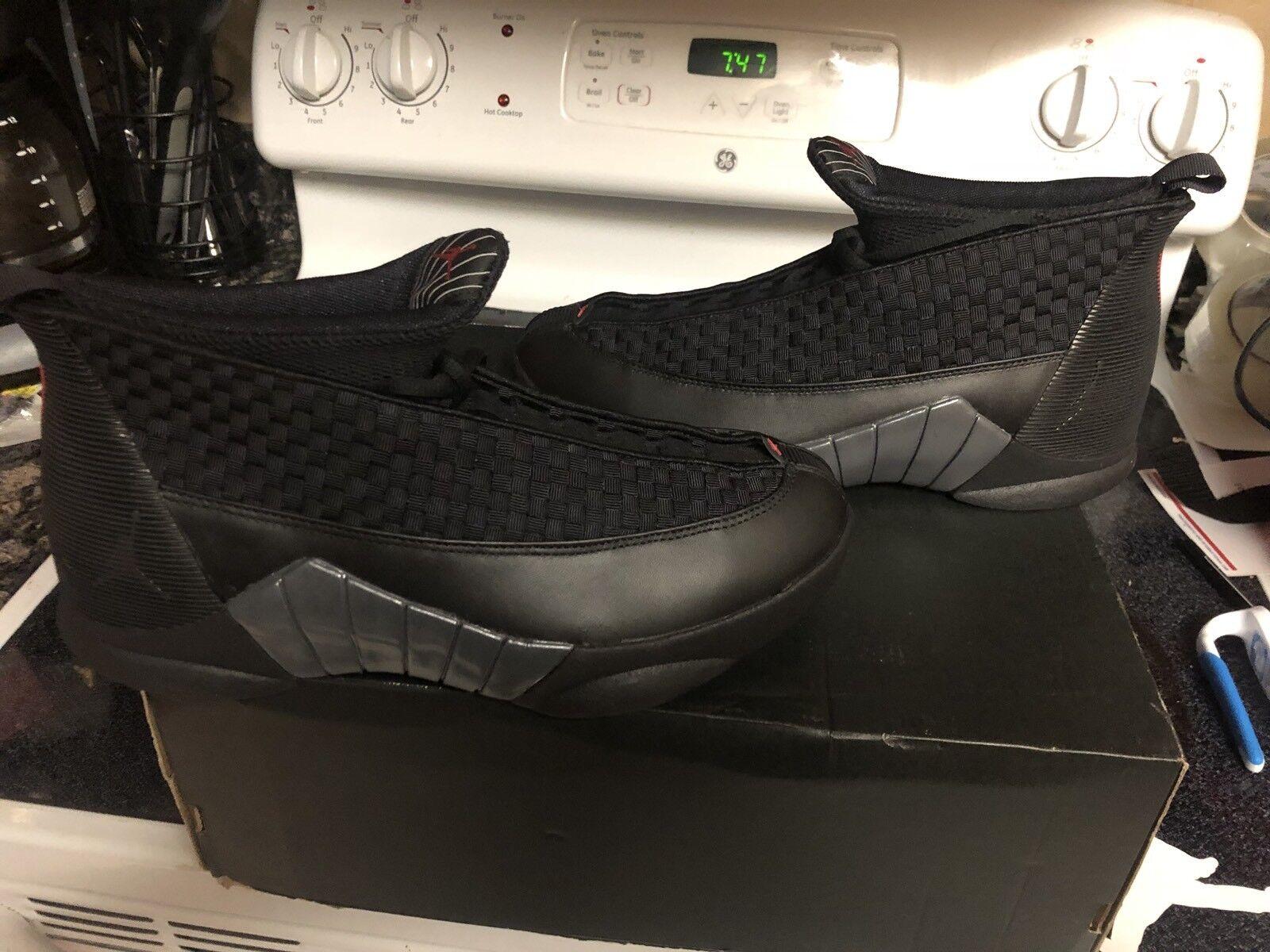 Nike Air Jordan XV 15 Retro Stealth 881429-001 Men's 10.5 1 Xi Xii Max 97 98