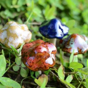 Garden-Plant-Decor-4Pcs-Large-Ceramic-Mushroom-Toadstools-Fairy-Yard-Ornament