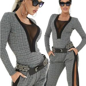 By-Alina-Damen-Body-Damenshirt-Shirt-Oberteil-Top-Damenbody-34-XS-C420