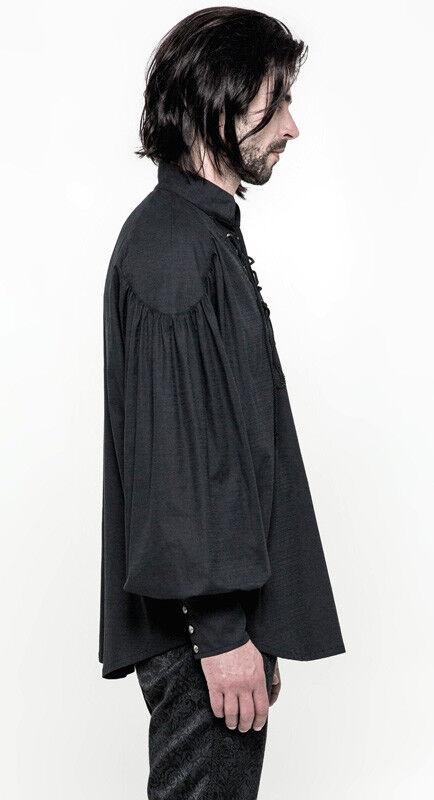 Chemise Chemise Chemise gothique steampunk pirate laçage broderie vintage Punkrave Homme nero 95ac95