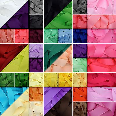 """en 64 Colores Llano Sólido 5//8/"""" Cinta del grosgrain 1 3 o 5 Metro De Corte De 15 Mm"""