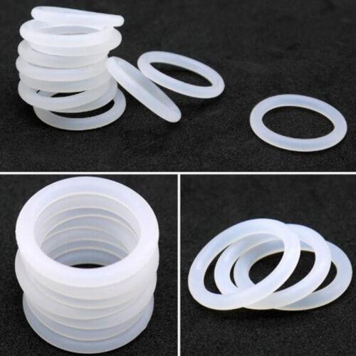 Weiß Φ4mm Silikon O-Ring Wasserdicht Siegel Isolierung Lebensmittelqualität