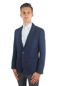 PME Legend Herren Sakko Carrier Fighter Blazer Anzug Klassisch Regular Blau