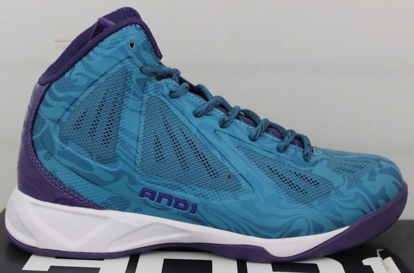 Hombre AND1 Xcelerate Basketball Zapatos verde Azulado   púrpura D1078MFU Nuevo en