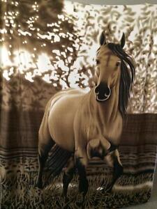 Western Galloping Cowboy Horse Accent Fleece Throw Decorative Blanket