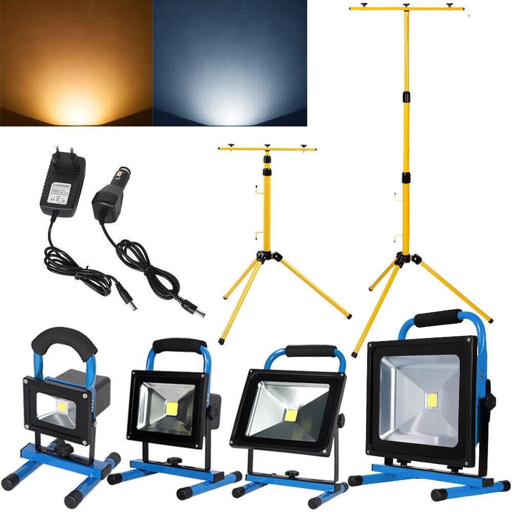 10W - 50W Akku LED Strahler Fluter Handlampe Arbeitslicht Flutlicht Stativ IP65   | König der Quantität  | Diversified In Packaging  | Mama kaufte ein bequemes, Baby ist glücklich