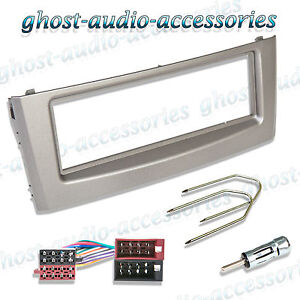 Vauxhall Anthracite Single DIN Car CD Stereo Facia Fascia Surround /& Radio Keys