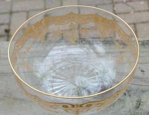 Vintage Crystal Gold Encrusted Finger Bowl