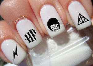 Harry Potter Nail Art Stickers Transfers Decals Set Of 42 Ebay