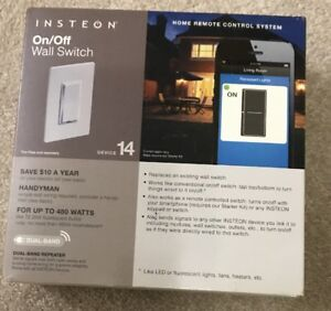 Insteon-Smart-Wall-on-off-Switch-Dual-Band-Model-2477D-Brand-New