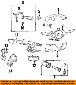 saturn gm oem 95 99 sl steering column lock assembly 21060891 ebay rh ebay com 2001 Saturn SL2 Engine Diagram 2004 Saturn Vue Parts Diagram