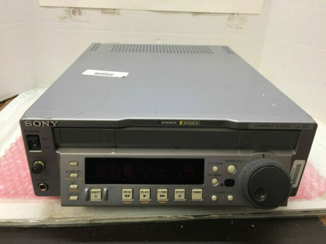 Sony J-10 DV Component Video BETACAM BETACAM SP/SX NTSC/PAL Compact Player LN