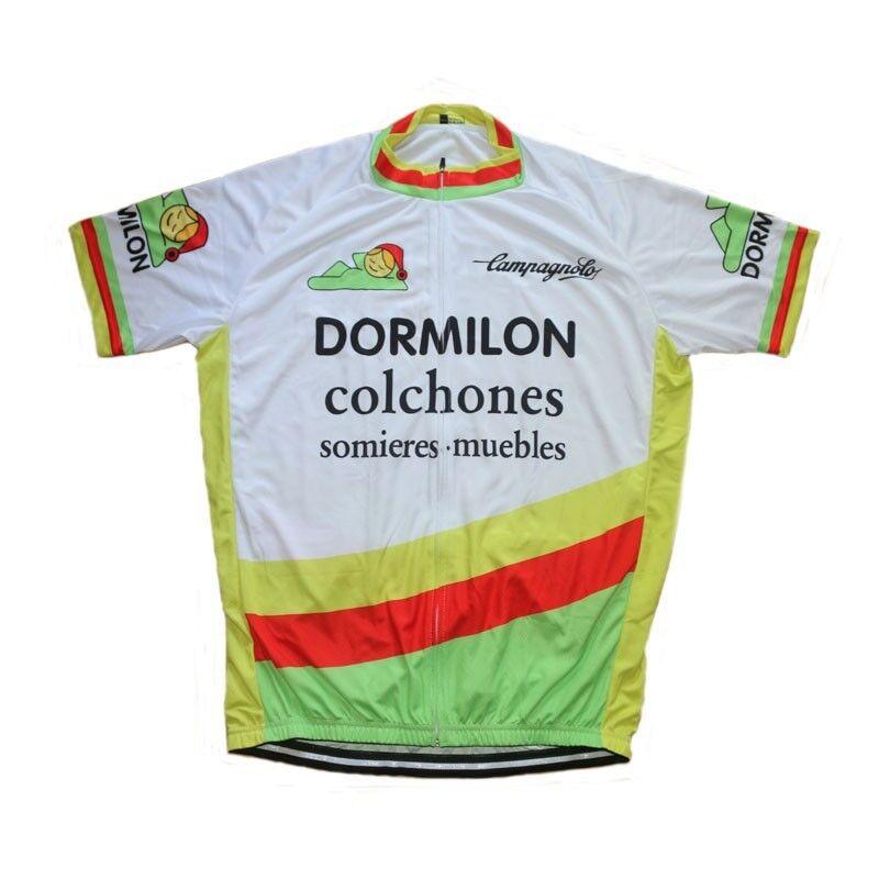 EQUIPACION CICLISMO CYCLING RETRO DORMILÓN  MAILLOT + CULOTTE TIRANTES + GORRA  calidad auténtica