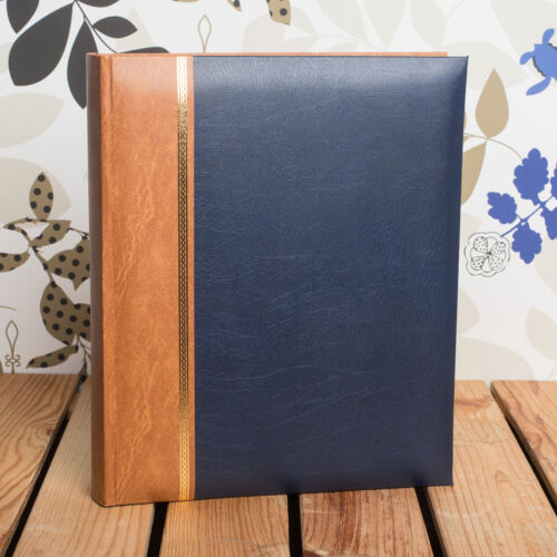 HOLDS 100 A4 PRINTS GREAT FOR PORTFOLIOS * CLASSIC A4 BLUE PHOTO ALBUM