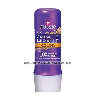 AUSSIE 3 Minute Miracle COLOR 10x The Protection CONDITIONING TREATMENT 8 oz NEW