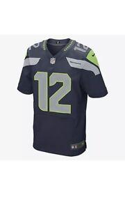 Image is loading Mens-Seattle-Seahawks-Elite-12s-Nike-Navy-Jersey- 42f07a6a0