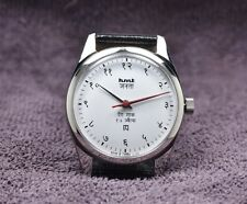 HMT Janata Hindi, White, hand winding mechanical watch, red hand