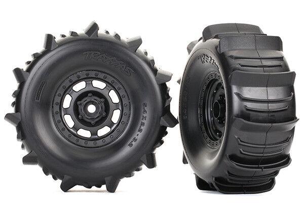 Traxxas 8475 Paddle Tires and Wheels, Desert Racer