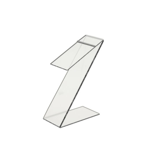 "Slant Back Acrylic Shoe Riser Display Stand Retail 3/""W x 10/""H x 6/""D"