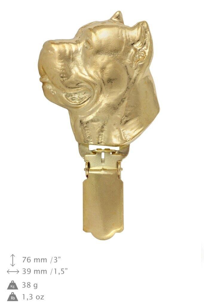 Cane Corso - clip, oro plated clip clip clip with dog, in box, clipring Art Dog d9f31f